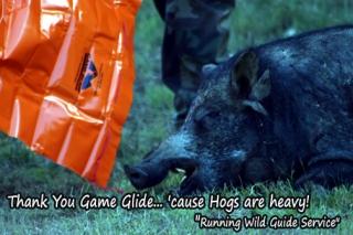 Game  Glide Deer Sled with Big Hog